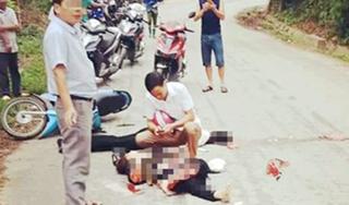 Chồng bị ô tô cán chết, vợ nguy kịch sau khi đâm phải chó chạy rông
