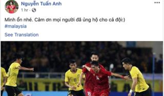 Tiền vệ Tuấn Anh báo tin vui với người hâm mộ bóng đá Việt Nam