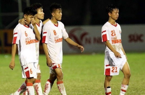 U21 HAGL thua đậm U21 Hồng Lĩnh Hà Tĩnh ở giải vô địch quốc gia