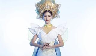Quốc phục 'Liên chiến hoa' đính 5000 viên pha lê của Hoàng Hạnh tại Miss Earth 2019