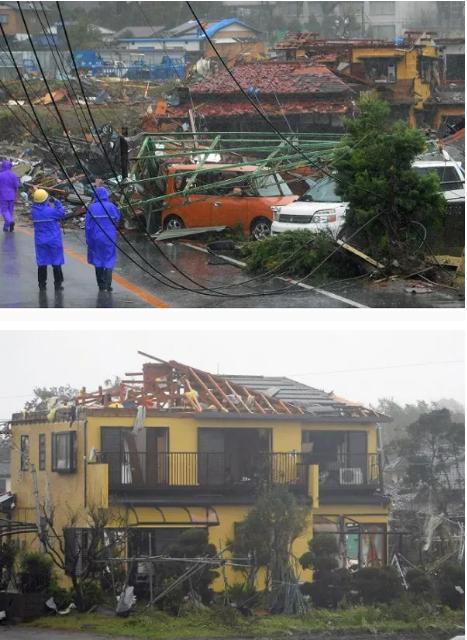 Hình ảnh tang thương của Nhật Bản khi siêu bão châu Á