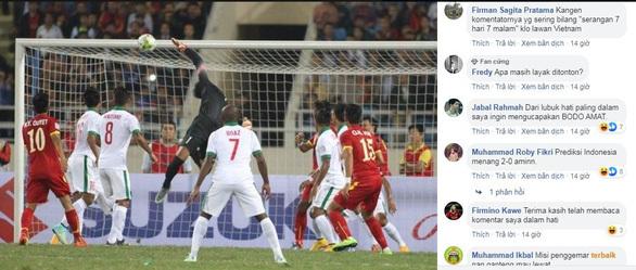 Quá tuyệt vọng, CĐV Indonesia dự đoán đội nhà thảm bại trước Việt Nam