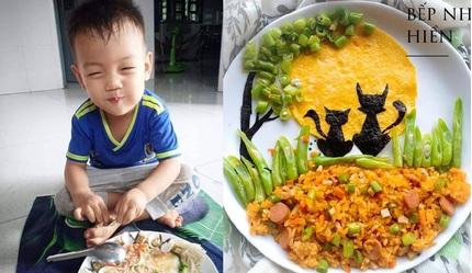 Mẹ đảm làm những đĩa cơm 'đẹp như tranh vẽ' khiến con lười nhai ăn thun thút
