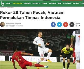 Báo Indonesia 'tổng tấn công' đội nhà sau trận thua Việt Nam