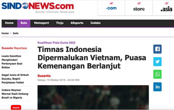 Quá thất vọng, báo Indonesia dìm đội nhà tơi tả sau trận thua Việt Nam
