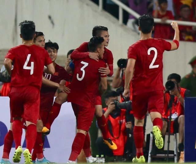 Đội tuyển Việt Nam tăng bậc trên bảng xếp hạng FIFA sau chiến thắng trước Indonesia