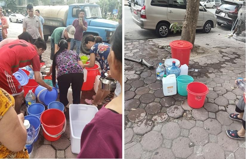 Thiếu nước sạch, người dân Hà Nội khốn đốn lo nước ăn uống từng bữa