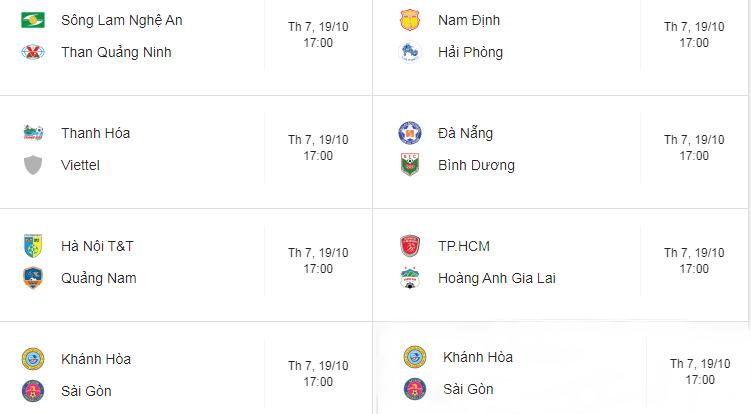 Lịch thi đấu vòng 25 V.League: