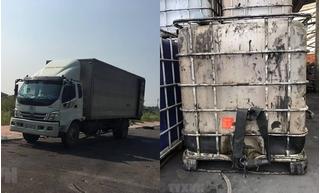 Xe tải đổ trộm dầu thải vào nước sông Đà thuộc công ty nào?