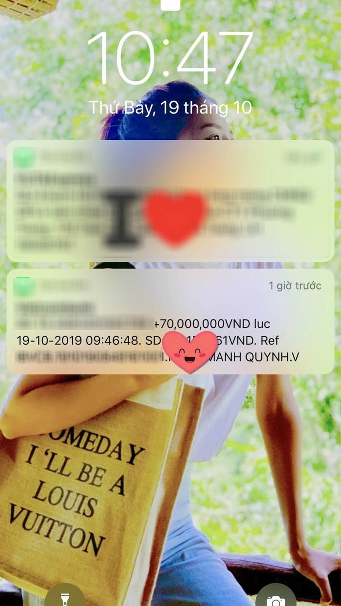 Phan Mạnh Quỳnh khiến fan suýt xoa khi chuyển 70 triệu đồng tặng bạn gái 20/10