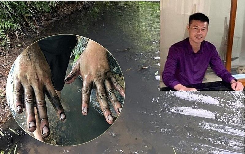 Vợ đối tượng đổ trộm chất thải ra sông Đà: 'Vì 7 triệu có đáng không?'