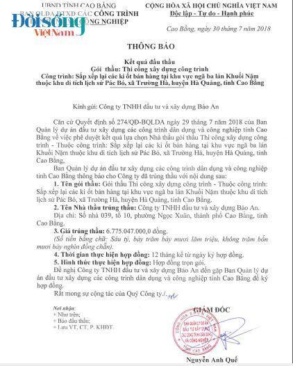 Doanh nghiệp 'quen' chuyên 'thâu tóm' đầu tư xây dựng tỉnh Cao Bằng02
