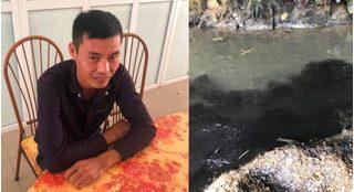 Quy trình tuồn dầu thải gây ô nhiễm nước sông Đà từ công ty gốm sứ