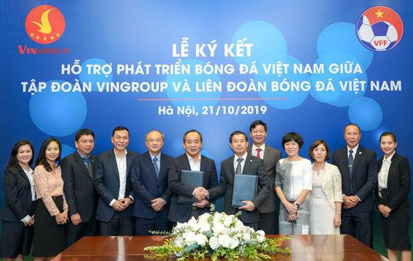 Vingroup và Liên đoàn Bóng đá Việt Nam chính thức hợp tác