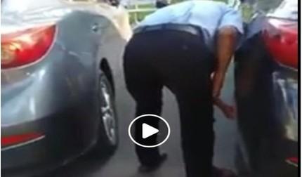 Buộc thôi việc nam nhân viên bảo vệ xì lốp xe ô tô trong bệnh viện