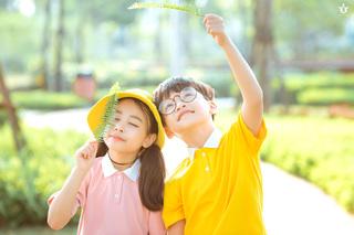 Cặp mẫu nhí nổi tiếng Hà Thành đáng yêu 'hết nấc' trong bộ ảnh 'Nobita và XuKa'