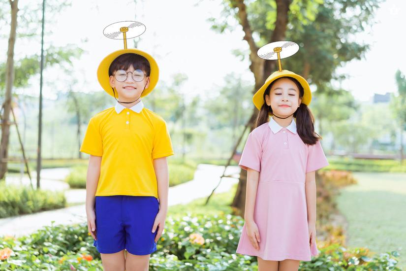Cặp mẫu nhí nổi tiếng Hà Thành đáng yêu trong bộ ảnh Nobita và XuKa9