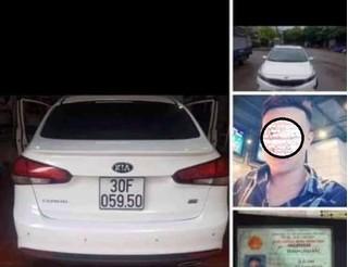 Ô tô của kẻ cầm kiếm chặn đường, chém nát kính xe tải là xe mất trộm?