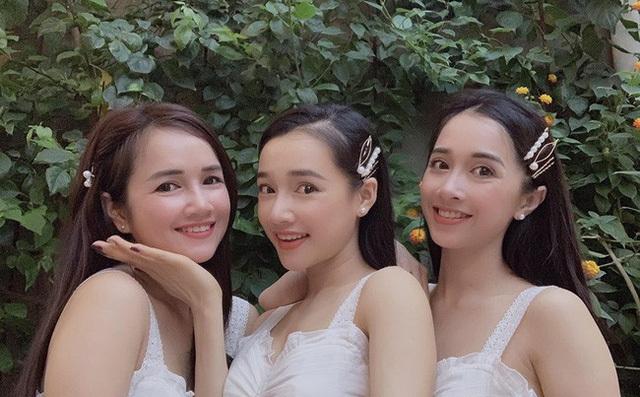 3 chị em nhà Nhã Phương xinh đẹp đọ sắc cùng nhau