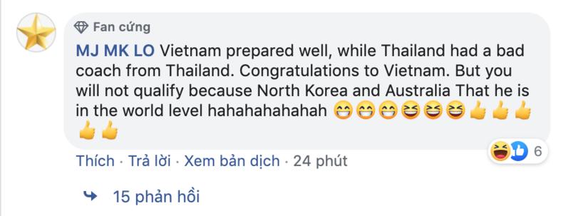 CĐV Thái Lan phản ứng bất ngờ khi đội nhà để thua Việt Nam