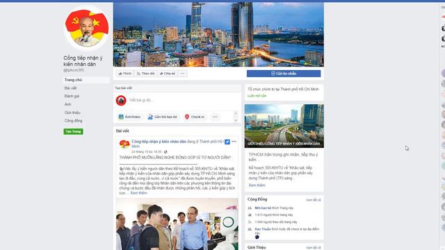 TP.HCM ra mắt Fanpage tiếp nhận ý kiến người dân qua mạng xã hội