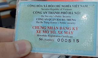 Sẽ cấp giấy đăng ký xe sang thẻ nhựa có mã QR