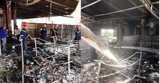 Hỏa hoạn thiêu rụi cửa hàng tạp hóa ở Nghệ An, thiệt hại tiền tỷ