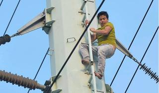Tiết lộ danh tính thanh niên ngáo đá trèo lên cột điện cao thế ở Hà Nội