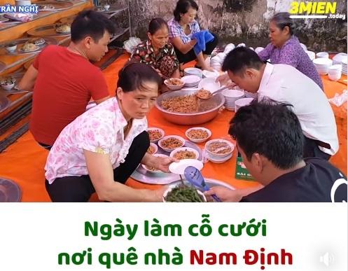 Xem clip làm cỗ cưới ở Nam Định, dân tình rần rần than thở nhớ quê