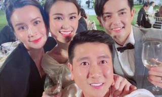 Lưu Hương Giang khoe ảnh hạnh phúc bên Hồ Hoài Anh trong đám cưới Đông Nhi