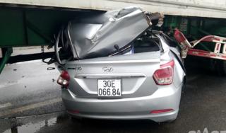 Danh tính 2 người đi ô tô tử vong vì mắc kẹt trong gầm xe container