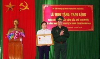 Thiếu tá hy sinh khi vây bắt tội phạm được truy tặng huân chương