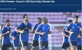 AFC: 'UAE sẽ rất khó khăn trong việc tìm kiếm bàn thắng'