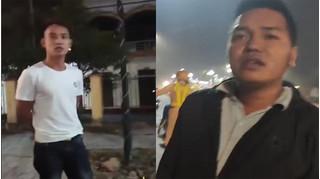 Quay clip CSGT ở Hưng Yên bị 2 người đàn ông bán sữa đe dọa xóa