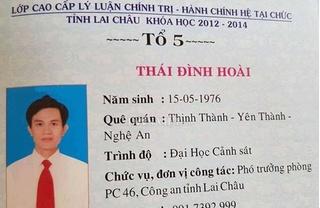 Trưởng phòng Cảnh sát kinh tế Lai Châu dùng bằng giả bị tước danh hiệu CAND
