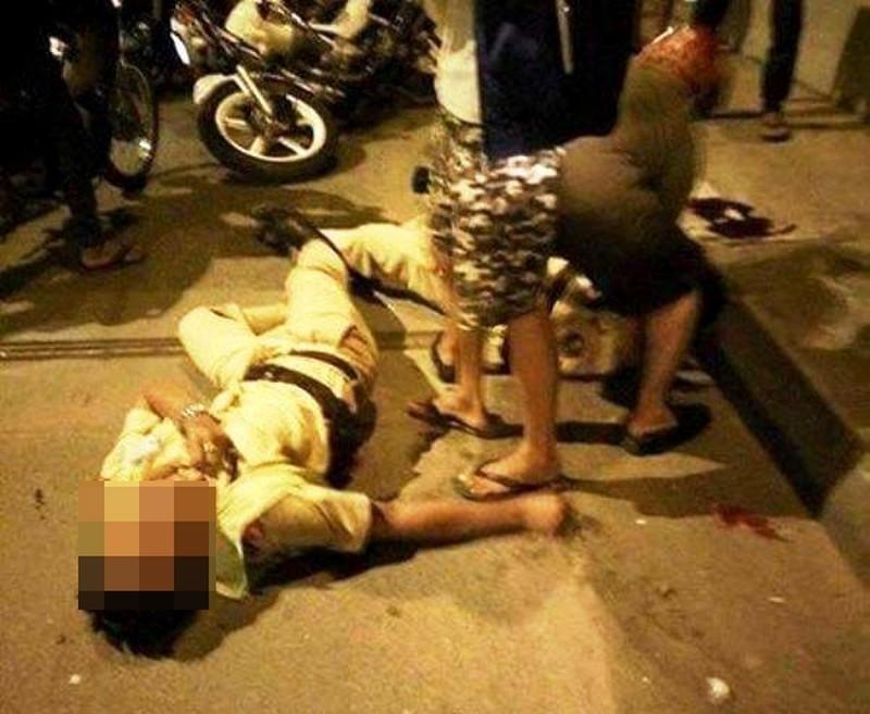 Thanh niên 9X chửi bới ném kéo khiến Đại úy công an bị thương