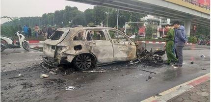 Xác nhận nguyên nhân ban đầu vụ tai nạn khiến xe Mercedes bốc cháy dữ dội