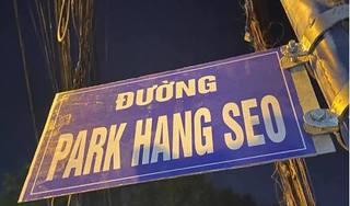 Đã tháo dỡ biển 'đường Park Hang Seo' ở TP.HCM