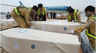 5 thi thể đầu tiên vụ 39 người tử vong trong container ở Anh về đến Nghệ An