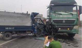 Nam Định: Xe tải mất lái tông vào xe đầu kéo, 1 người tử vong