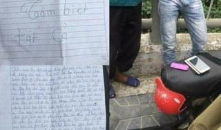 Cô gái để lại thư tuyệt mệnh đẫm nước mắt rồi nhảy cầu tự vẫn