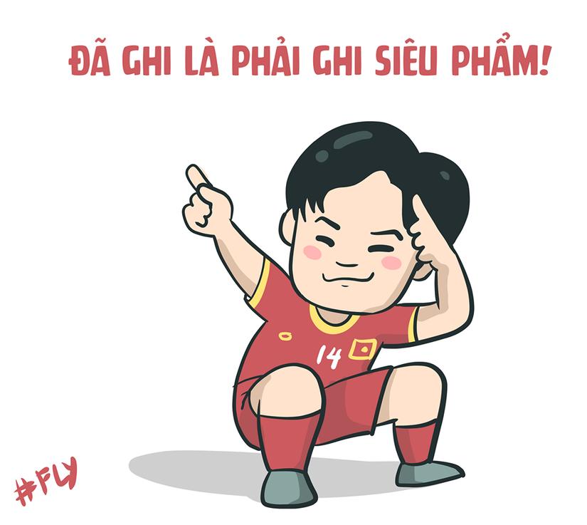 Loạt ảnh chế hài hước về màn ngược dòng của Việt Nam trước Indonesia8