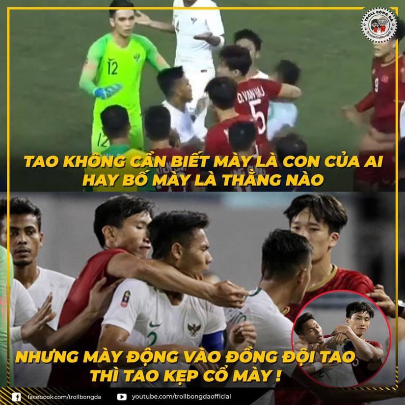 Loạt ảnh chế hài hước về màn ngược dòng của Việt Nam trước Indonesia9