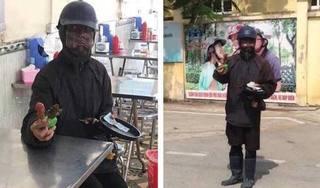 Hoang mang thông tin nhóm người mặc đồ đen cầm đầu gà, xúc xích đi xin tiền