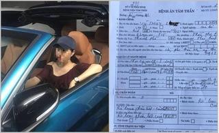 Bệnh án tâm thần của nữ trung tá công an bị tố 'quỵt' tiền taxi