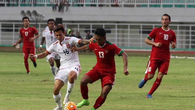 U22 Indonesia đánh bại U22 Myanmar với tỷ số 4-2