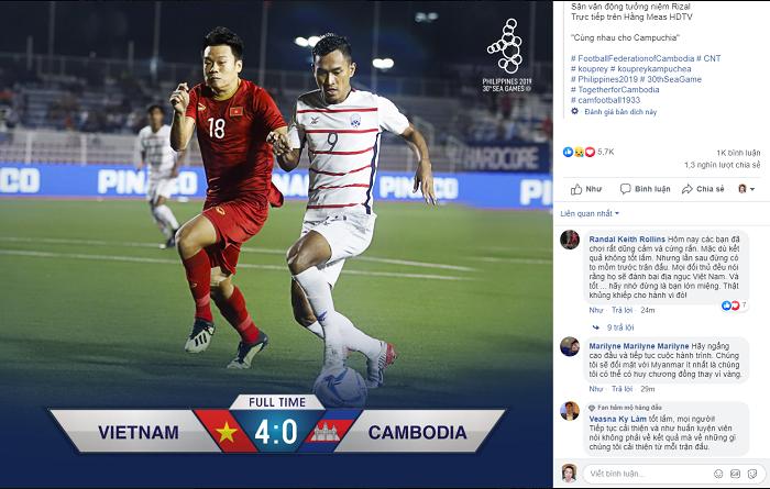 CĐV Campuchia dự đoán U22 Việt Nam sẽ vô địch SEA Games