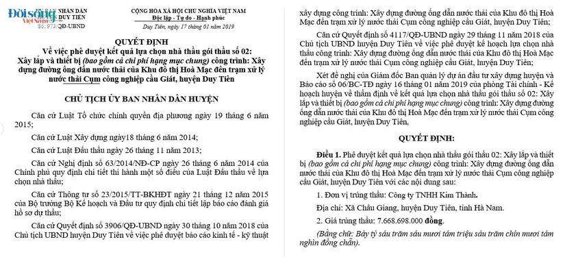 Đầu tư công tại huyện Duy Tiên (Hà Nam)01