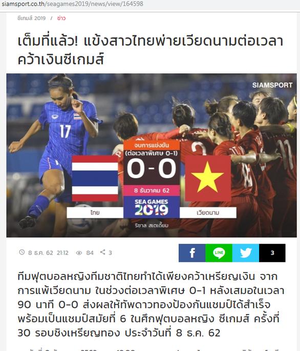 Báo Thái đau đớn khi đội nhà thất bại trước Việt Nam ở chung kết SEA Games 30