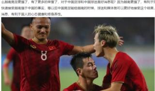 Báo Trung Quốc: 'Người hâm mộ Trung Quốc đang phải ghen tị khi nhìn bóng đá Việt Nam'